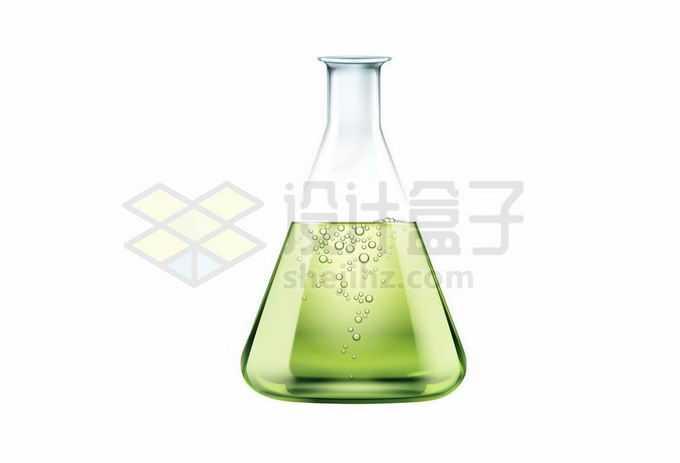 锥形瓶里面的绿色化学试剂等化学实验仪器8510886矢量图片免抠素材免费下载