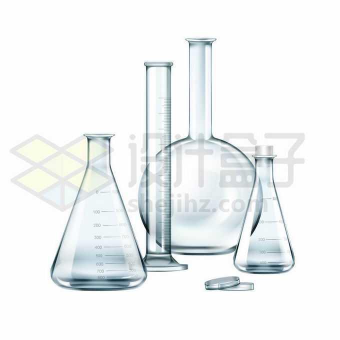 锥形瓶量筒平底烧瓶培养皿等化学实验仪器5530271矢量图片免抠素材免费下载