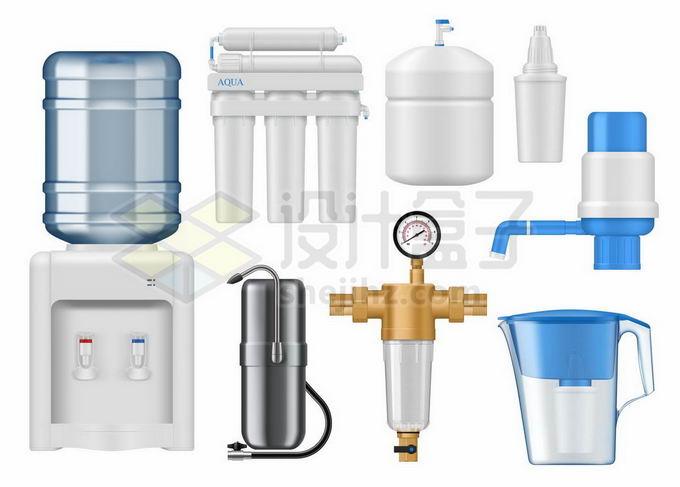 饮水机和家用净水机以及各种净水器9365659矢量图片免抠素材免费下载