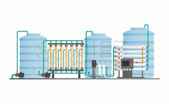 工厂净水器过滤器结构图6174355矢量图片免抠素材免费下载