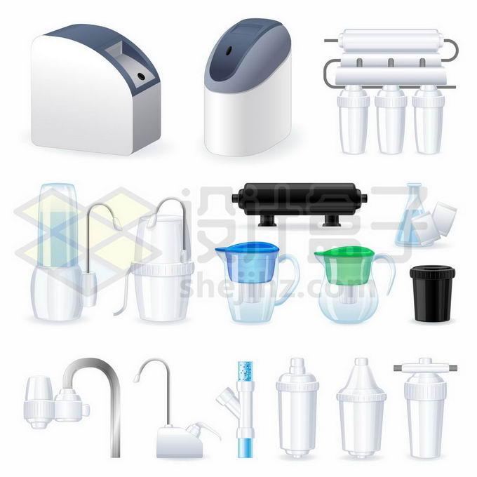 自来水净水机过滤器和各种净水器零部件5326283矢量图片免抠素材免费下载