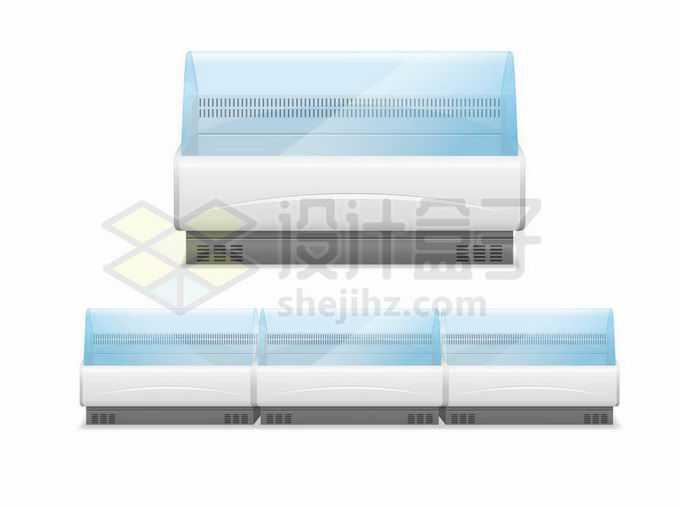 超市菜场透明冰柜保鲜柜冷藏柜冷柜6515935矢量图片免抠素材免费下载