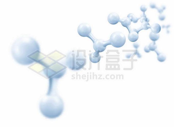 各种淡蓝色分子模型结构9673724矢量图片免抠素材免费下载
