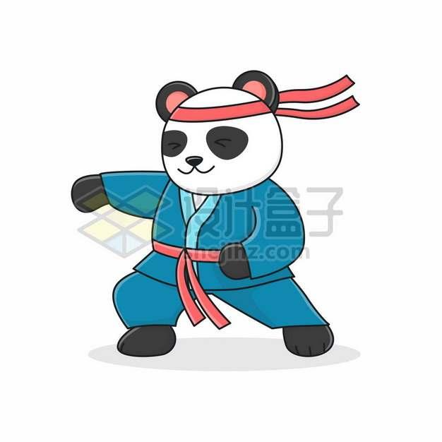 打太极的卡通功夫熊猫7340782矢量图片免抠素材