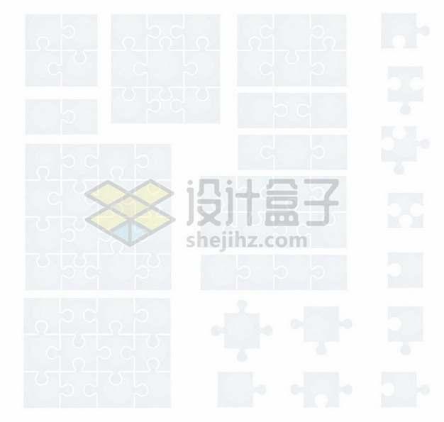 各个不同位置的拼图图案5483822矢量图片免抠素材
