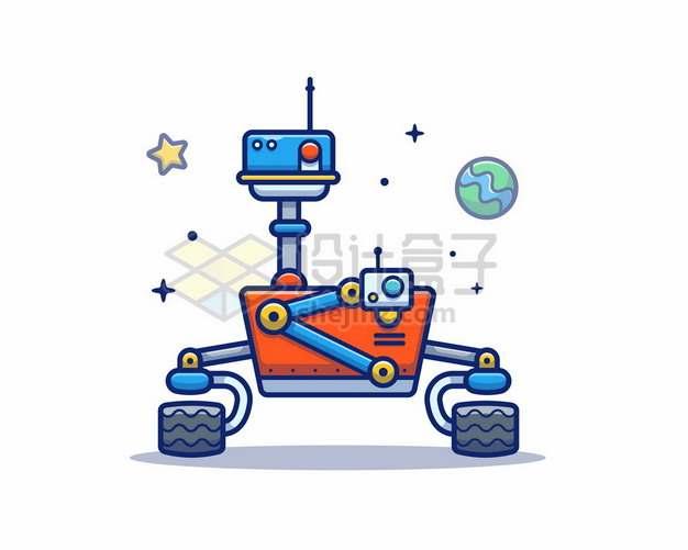MBE风格卡通毅力号火星探测车7890204矢量图片免抠素材