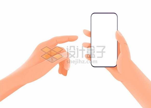 两只手正在操作手机4455915矢量图片免抠素材