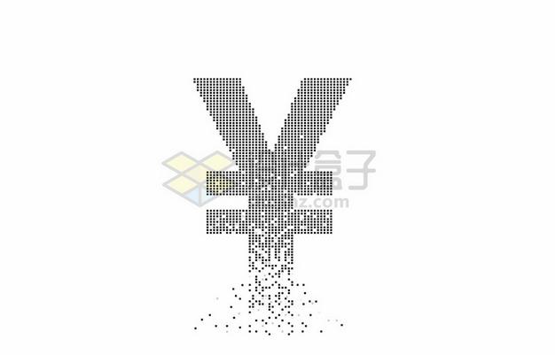 黑色小圆点组成的人民币符号4169379矢量图片免抠素材
