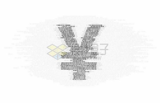 数字01组成的人民币符号象征了人民币数字化9185677矢量图片免抠素材