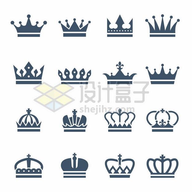 16款皇冠王冠图案8334572矢量图片免抠素材