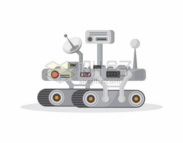 扁平化风格卡通毅力号火星探测车3078274矢量图片免抠素材