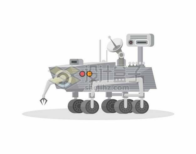 扁平化风格卡通索杰纳号火星探测车9998032矢量图片免抠素材