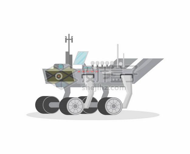 扁平化风格卡通机遇号火星探测车8608790矢量图片免抠素材