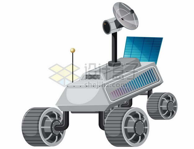 一款卡通风格的火星探测车6181310矢量图片免抠素材