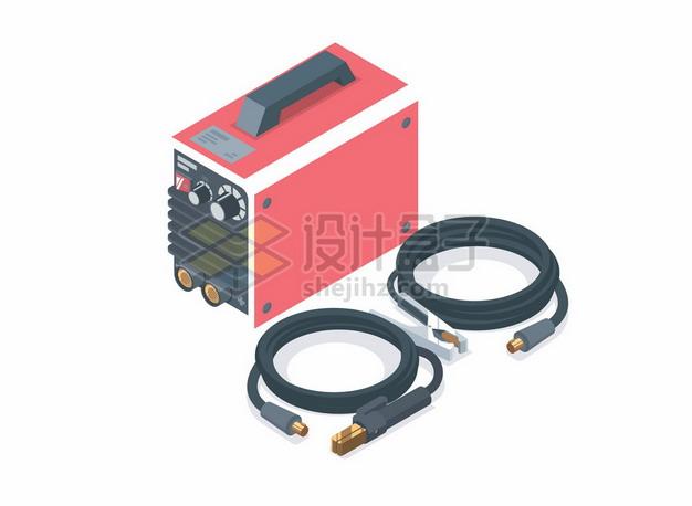 2.5D风格汽车电瓶和连接线3116840矢量图片免抠素材