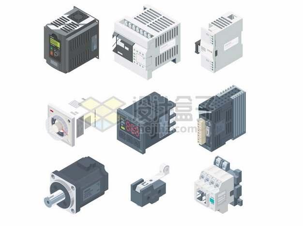 2.5D风格各类电子机械设备3486333矢量图片免抠素材
