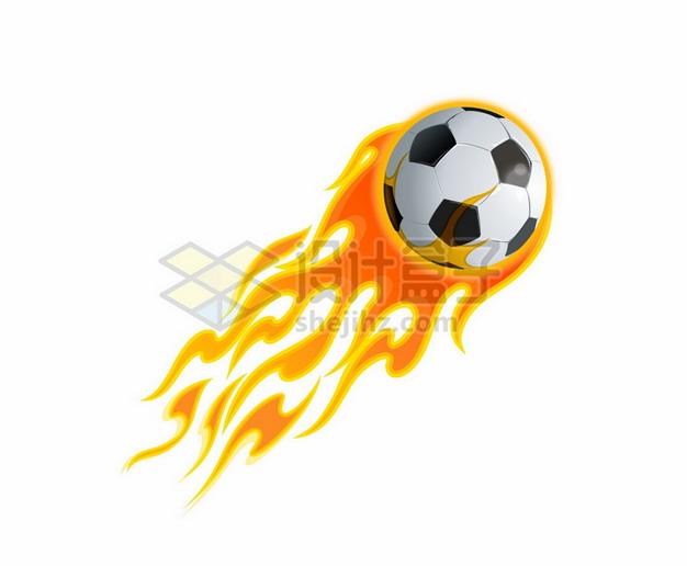 带着火焰的足球2624009矢量图片免抠素材