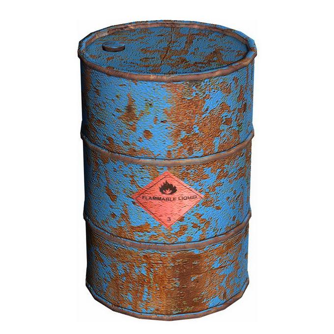 3D立体报废的汽油桶化工业废料桶6746939免抠图片素材