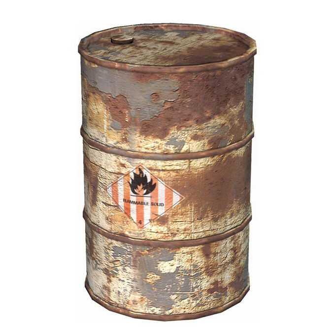 3D立体报废的汽油桶化工业废料桶6700725免抠图片素材