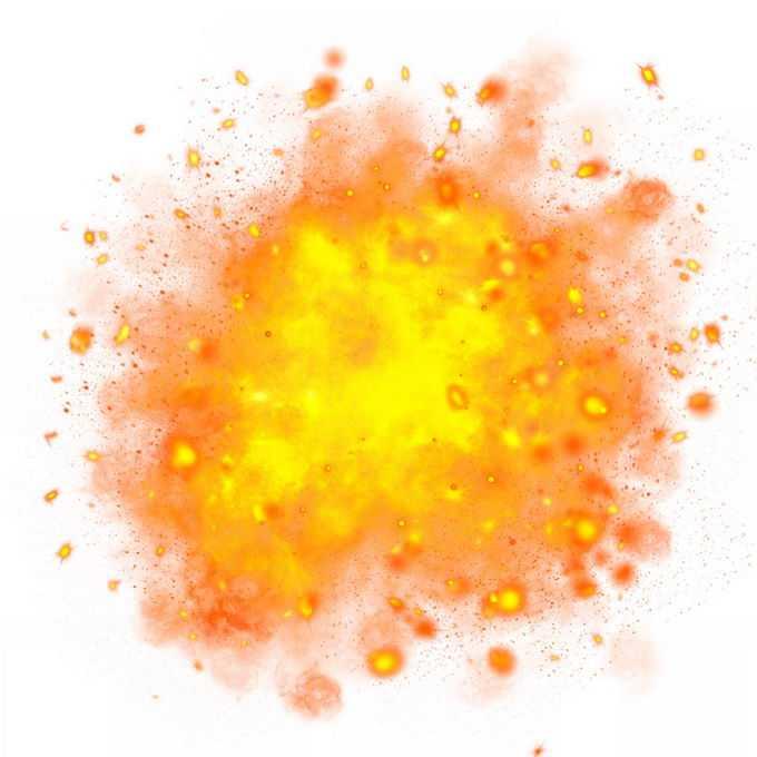黄色爆炸效果火星四溅3307196免抠图片素材