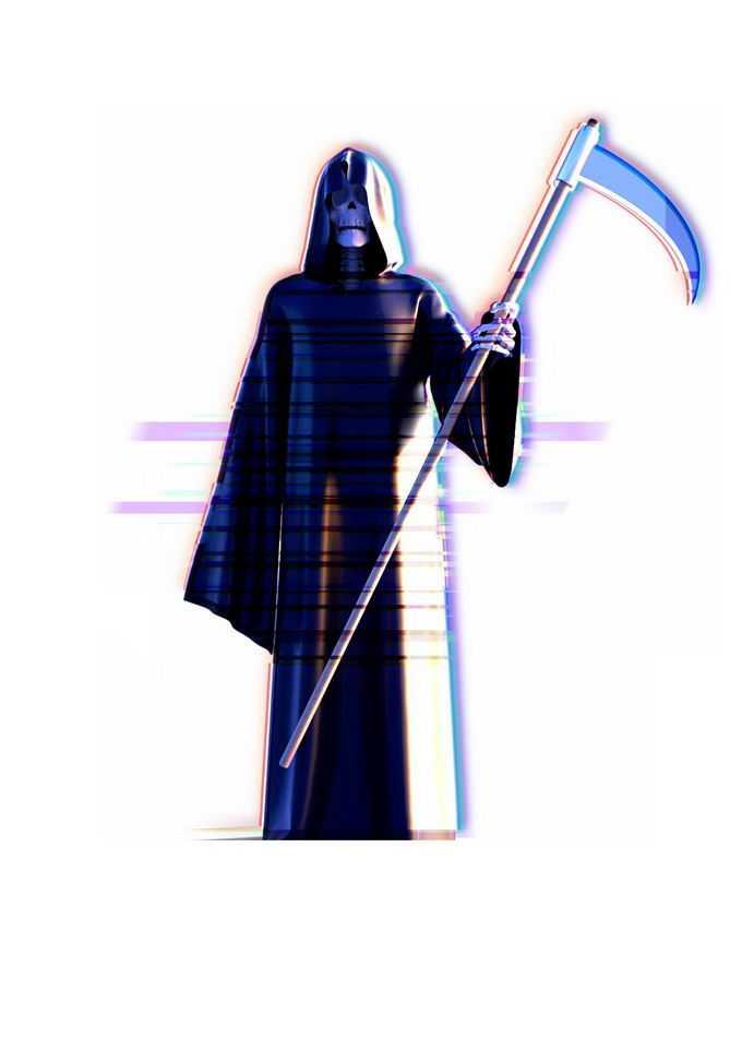 拿着镰刀的死神恐怖元素8006560免抠图片素材