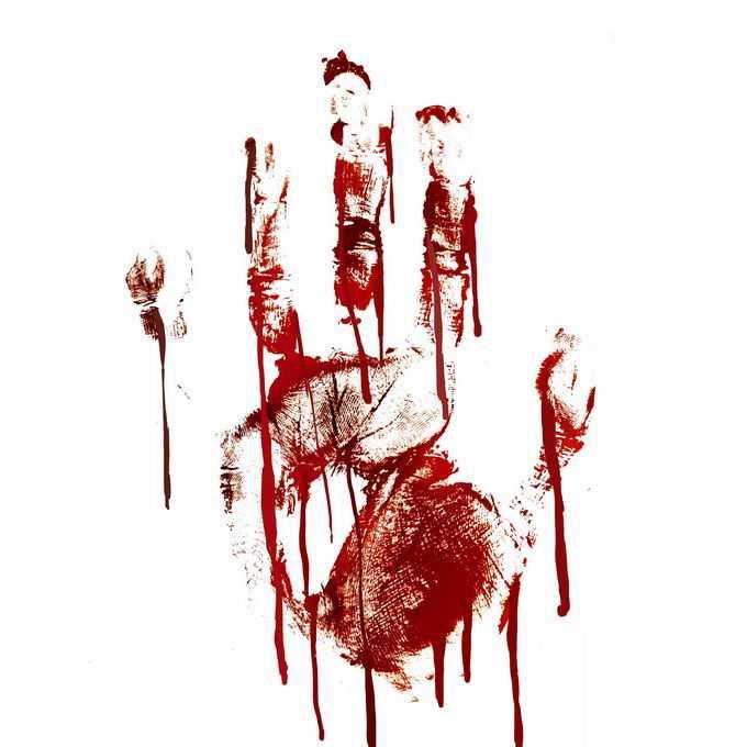 一个血淋淋的血掌印恐怖元素9279861免抠图片素材