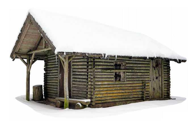 冬天厚厚积雪覆盖的小木屋7481694png免抠图片素材