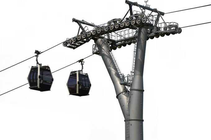 景区缆车架空索道和索道支架8704319png免抠图片素材