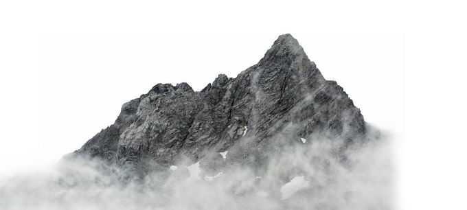 浓雾云海中的山峰高山1913455png免抠图片素材