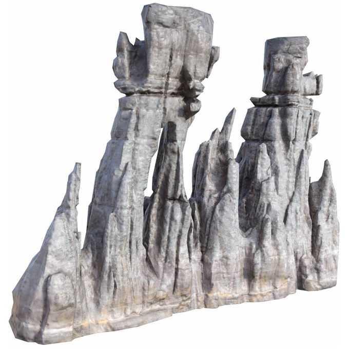 怪石嶙峋的石灰岩石柱2342377png免抠图片素材