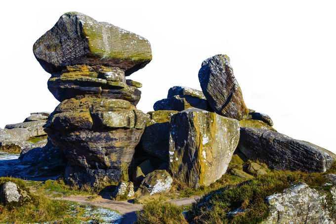 山顶风化的石块巨石风景2517775png免抠图片素材