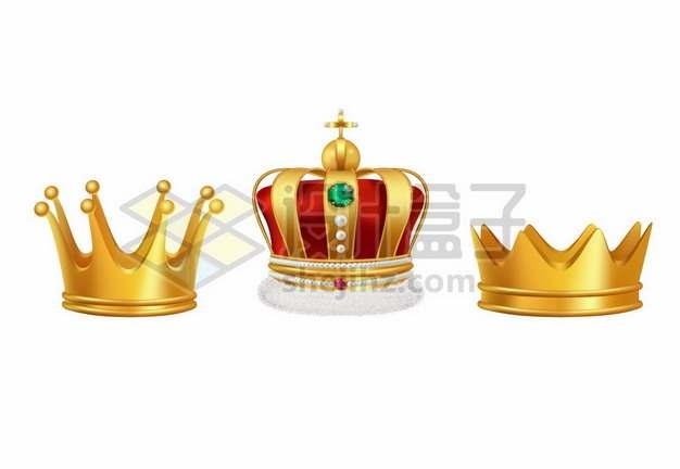 3款黄金皇冠王冠1942512矢量图片免抠素材免费下载