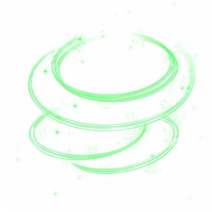 绿色光线炫光效果圆圈装饰6515485免抠图片素材