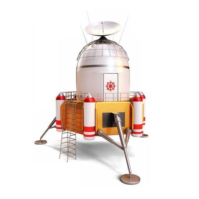 3D立体风格登月飞船火星登陆飞船2430039免抠图片素材