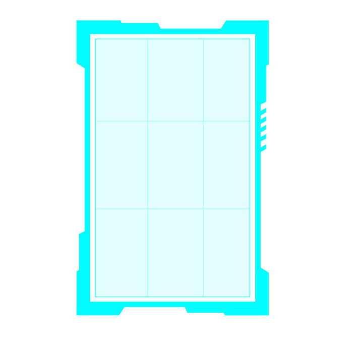 发光的天蓝色边框科技风格文本框信息框1756674免抠图片素材