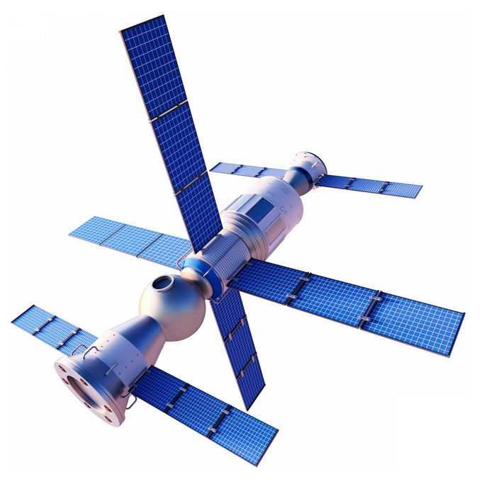 天宫空间站和天和号核心舱以及神舟飞船组合体7347151免抠图片素材