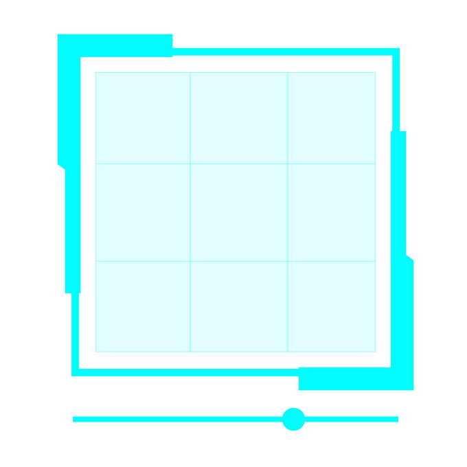 发光的天蓝色边框科技风格文本框信息框9632958免抠图片素材