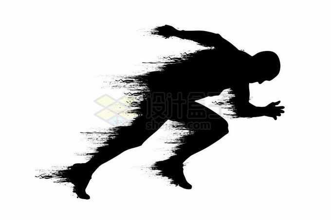 快速奔跑的人抽象速度运动员剪影2833245矢量图片免抠素材免费下载