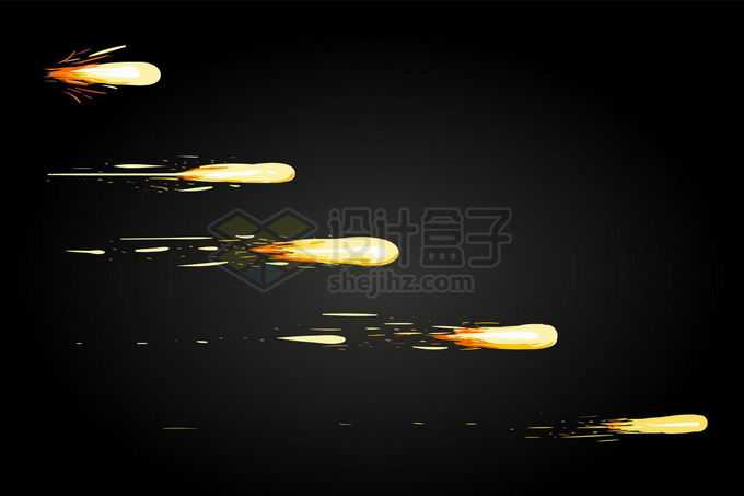 高速飞行中的子弹炮弹火花效果7831161矢量图片免抠素材免费下载