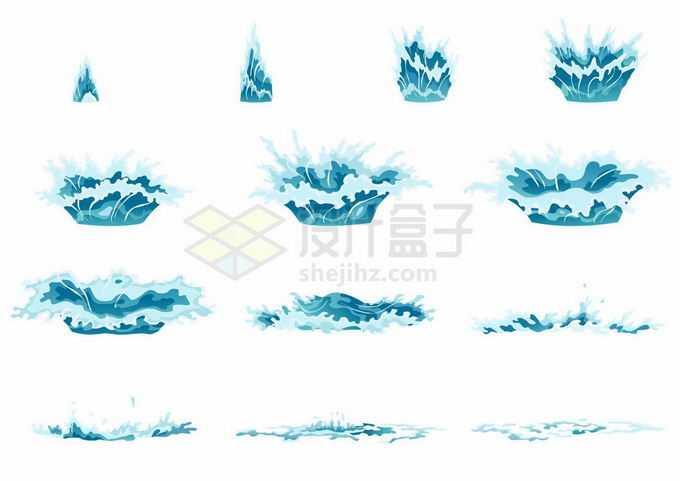 掉落水中砸起的水花过程浪花巨浪效果1546925矢量图片免抠素材免费下载