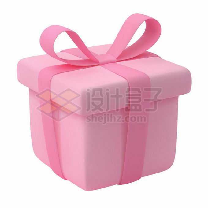 3D立体风格粉红色可爱礼物盒8070014矢量图片免抠素材免费下载