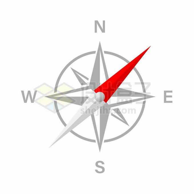 扁平化风格的指南针图案6138297矢量图片免抠素材免费下载