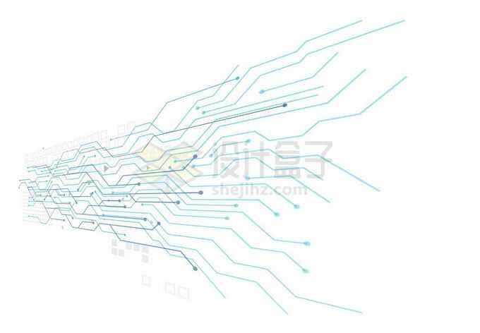 蓝色线条电路板线路装饰图案6560291矢量图片免抠素材免费下载