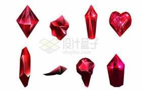 8款红宝石钻石6030615矢量图片免抠素材