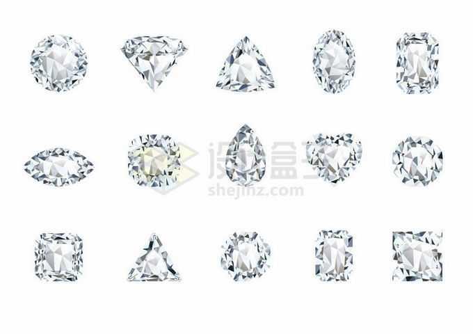 15款钻石宝石1458272矢量图片免抠素材
