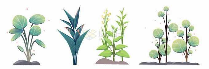 4款卡通植物7508807矢量图片免抠素材