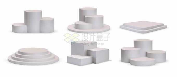 6款3D台阶展台1802897矢量图片免抠素材
