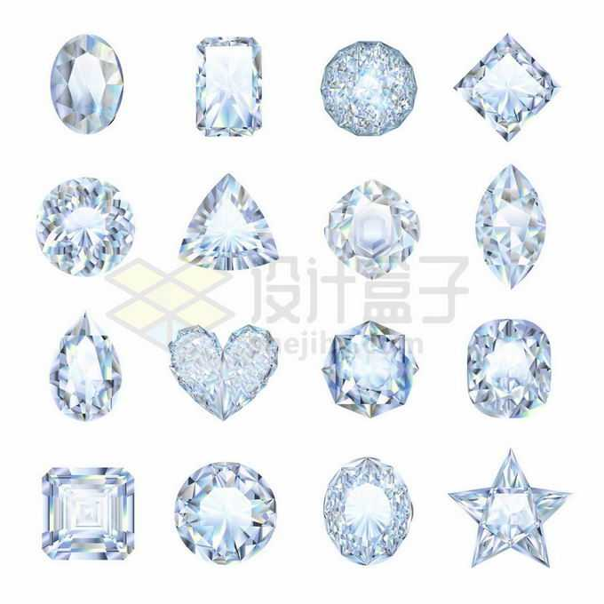 16款透明的钻石宝石2000680矢量图片免抠素材