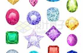16款彩色钻石宝石8797921矢量图片免抠素材