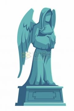 长翅膀的圣母雕塑672472png图片素材